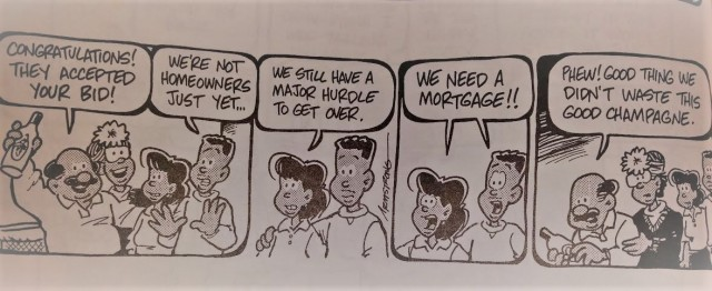 comic strip about getting a mortgage
